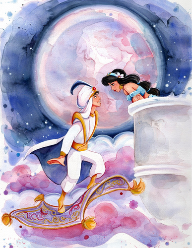 Aladdin and Jasmine wallpaper entitled Aladdin and Jasmine
