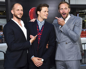 Alexander, Gustaf and Bill Skarsgård at It Movie Premiere