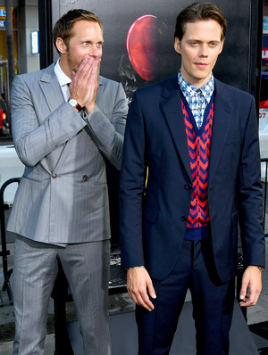 Alexander and Bill Skarsgård at It Movie Premiere