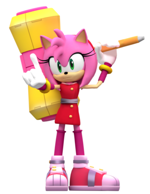 Amy Rose The Hedgehog Animiert 2