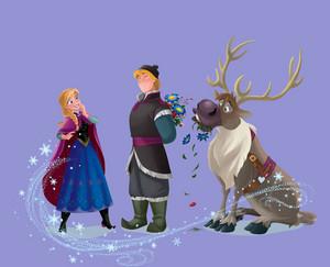 Anna, Kristoff and Sven