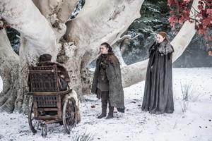 Arya, Bran and Sansa 7x04 - The Spoils of War