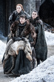 Arya, Sansa and Bran 7x04 - The Spoils of War