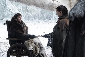 Arya and Bran 7x04 - The Spoils of War
