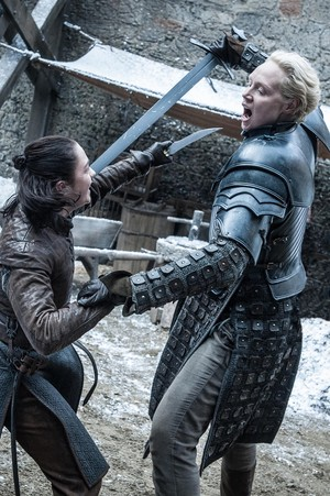 Arya and Brienne 7x04 - The Spoils of War