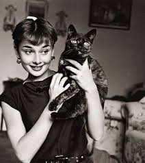 Audrey and her black cat