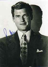 Autographed Photo Of Sir Roger Moore