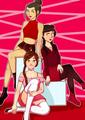 Azula, Mai, and TyLee - avatar-the-last-airbender fan art