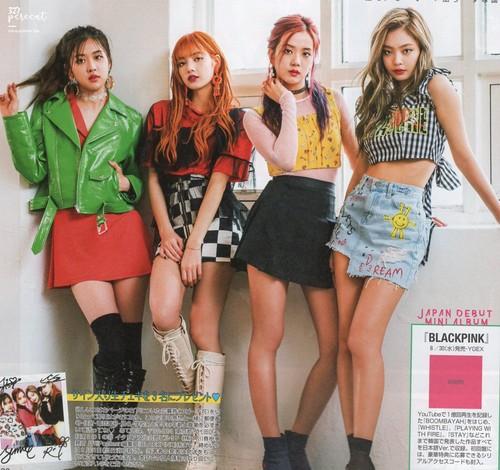 Black 粉, 粉色 壁纸 called BLACKPINK for Popteen 日本 Magazine August Issue