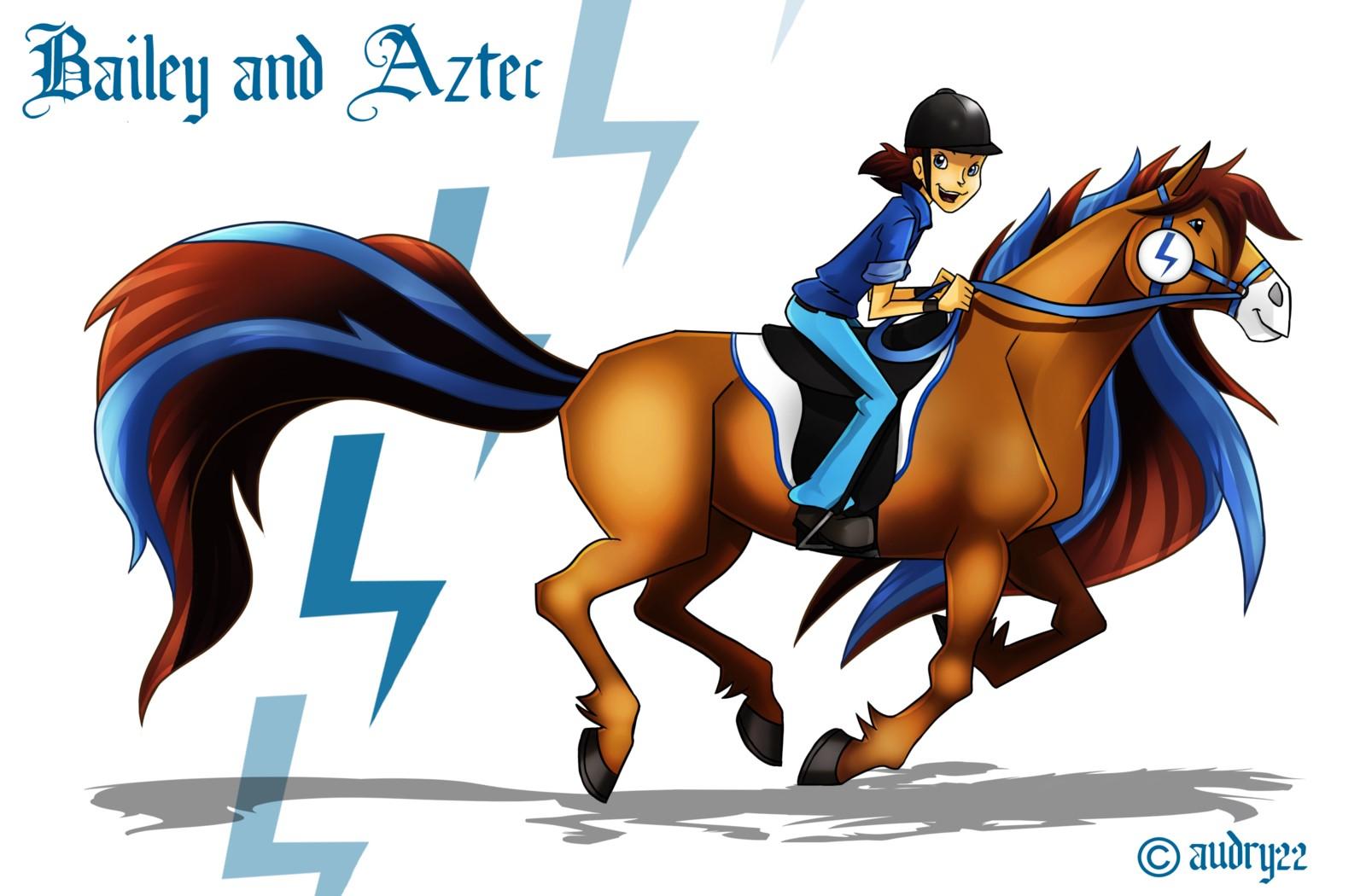 Bailey and Aztec - horseland Fan Art (40682438) - Fanpop