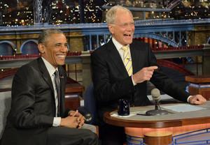 Barack And David Letterman
