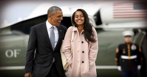 Barack And Oldest Daughter, Malia