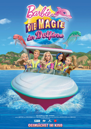 Sinema za Barbie karatasi la kupamba ukuta entitled Barbie dolphin Magic Official Poster