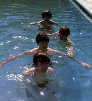 Beatles swimming