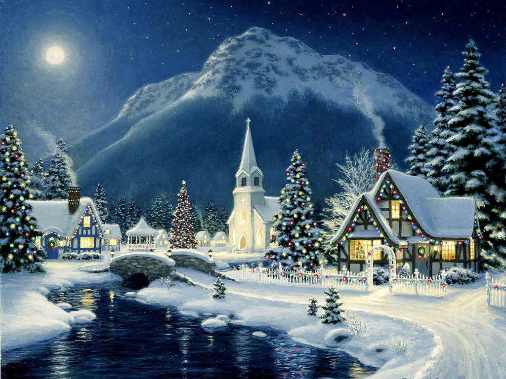 Beautiful christmas scene christmas wallpaper 40690049 - Pretty christmas pictures ...