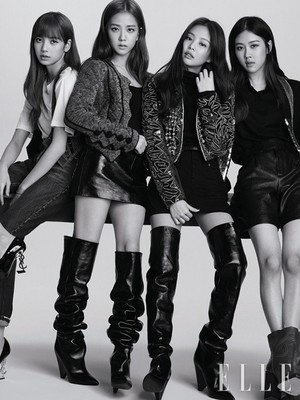 Black 粉, 粉色 look gorgeous in 'Elle Korea' pictorial