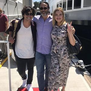 Bob and Eliza with Jason Rothenberg