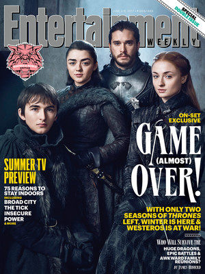Bran, Arya, Jon and Sansa (EW Season 7)