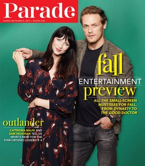 Caitriona Balfe and Sam Heughan at Parade Photoshoot