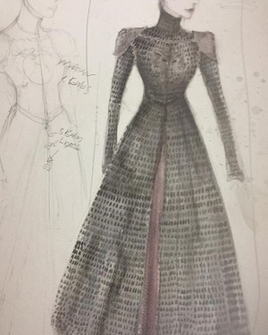 Cersei Lannister Costume Sketch