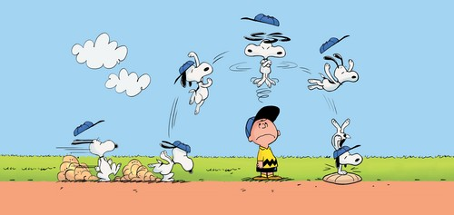 Peanuts wallpaper entitled Charlie Brown and Snoopy
