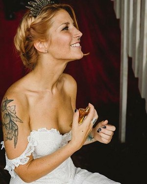 charlotte Wessels' wedding picture