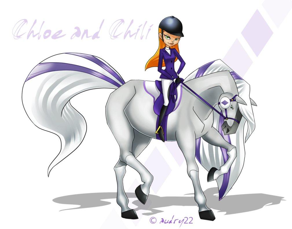 Chloe And Chili - horseland Fan Art (40682443) - Fanpop