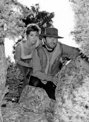 Clint Eastwood and Marianne Koch (A Fistful of Dollars)