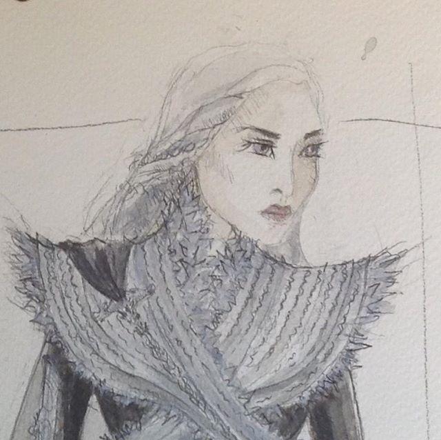 Daenerys Targaryen Costume Sketch