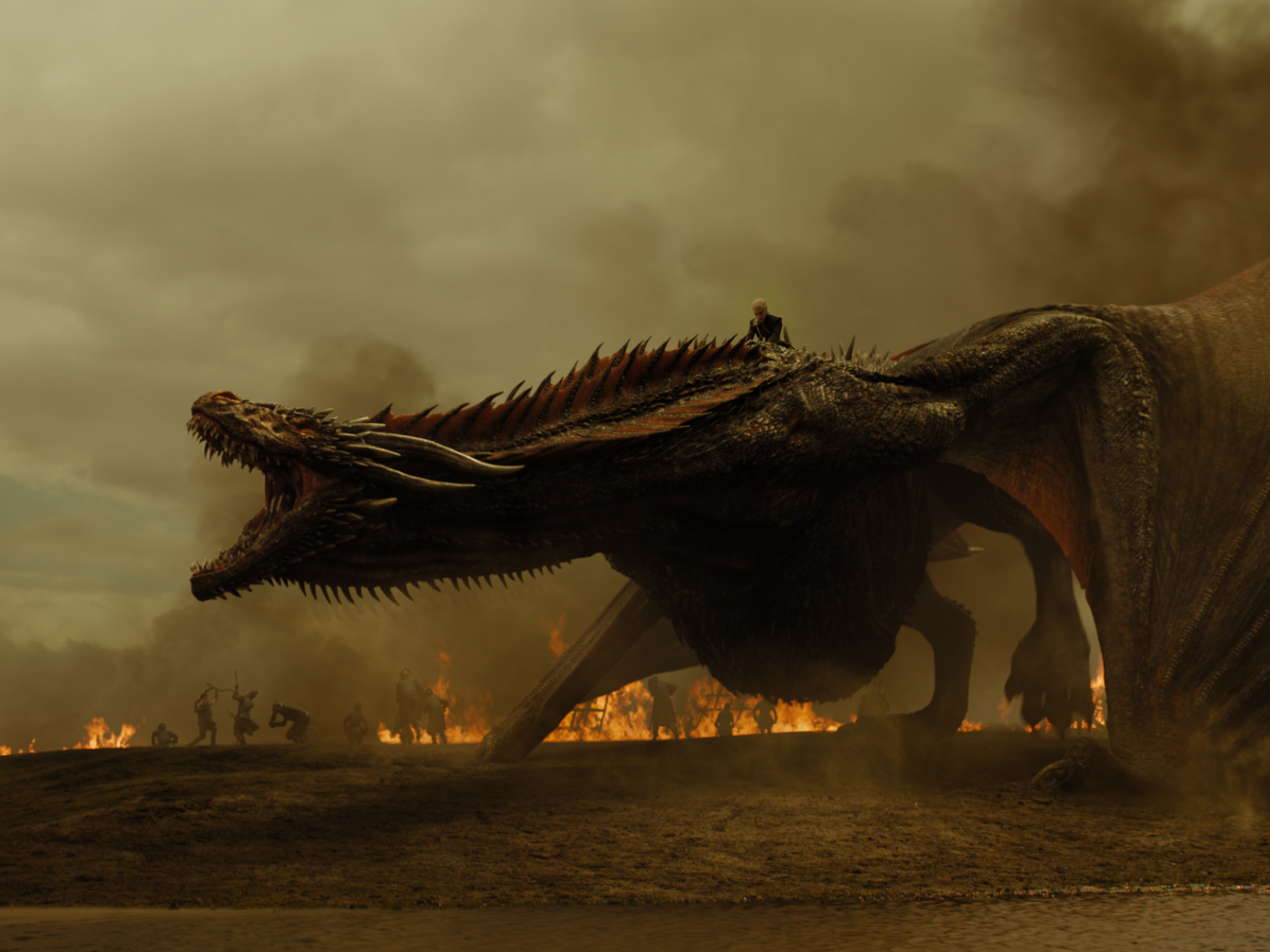 Daenerys Targaryen and Drogon 7x04 - The Spoils of War