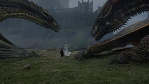 Daenerys, Tyrion and Dragons 7x06 - Beyond the دیوار