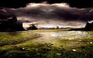Dark गढ़, महल Landscape