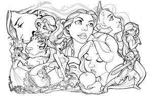 Disney Princess Lineart