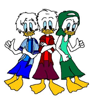 Disney s Donald s Nephews Huey  Dewey and Louie Duck