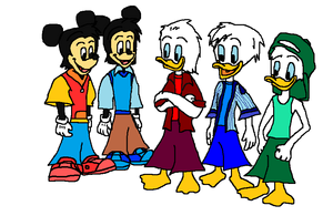 Disney s Morty  Ferdie  Huey  Dewey and Louie.