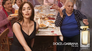 Emilia Clarke at Dolce & Gabbana advertising