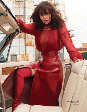 Emilia Clarke for Vogue China [Magazine Scans]