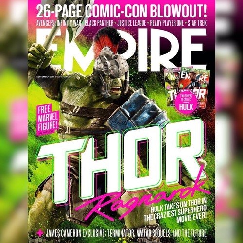Thor: Ragnarok wolpeyper entitled Empire Magazine Covers