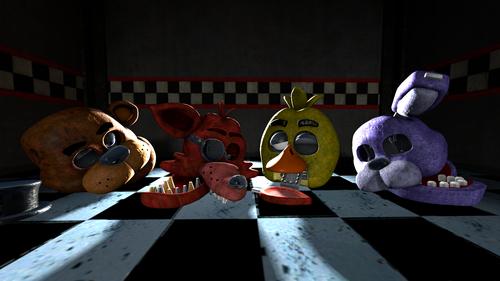 Five Nights at Freddy's karatasi la kupamba ukuta titled FNAF: Broken