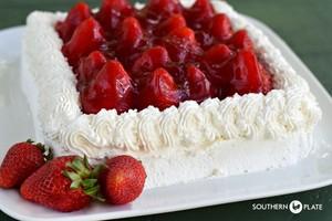 Fresh 草莓 Cake