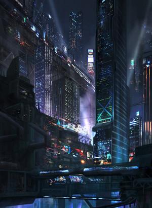 Futuristic city pic