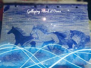 Galloping Herd at Dawn