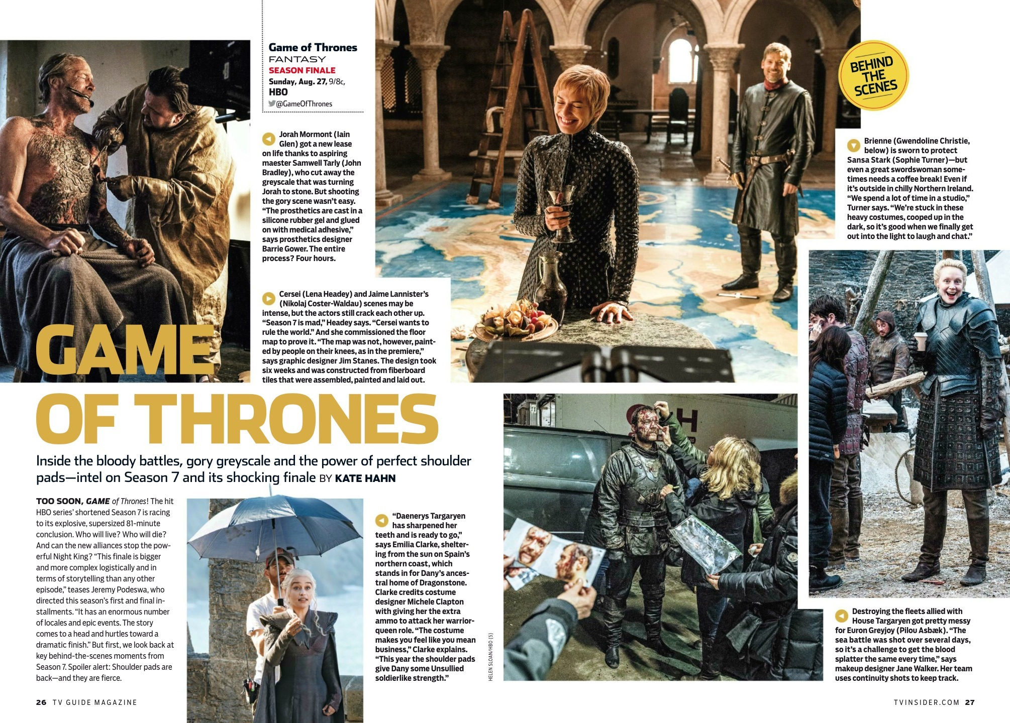 Game of Thrones in TV Guide - August 2017