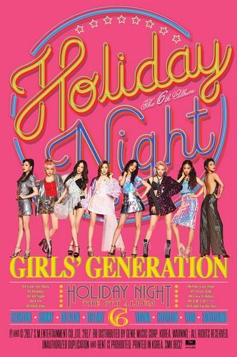 Girl's Generation/SNSD karatasi la kupamba ukuta entitled Girls Generation 'Holiday Night' - Group Teaser