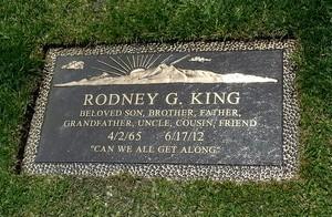 Gravesite Of Rodney King
