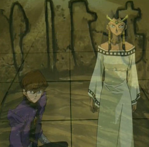 Group ep52 isis Kaiba look up at tablet