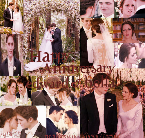 Twilight Series wallpaper titled Happy Anniversary,Edward and Bella