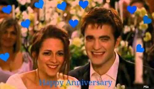 Twilight Series wallpaper entitled Happy Anniversary,Edward and Bella
