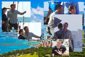 Hawaii Five-0 - Season 8 (Alex O'Loughlin) set up shoot in Hawaii