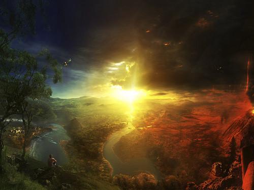 Zufällig Hintergrund entitled Heaven VS Hell